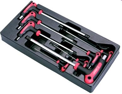 Комплект L-образных 6-ти гранных ключей Hans в ложементе, TT-20