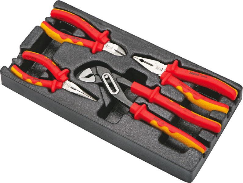 Набор губцевого инструмента Hans для электрика в ложементе, TT-27